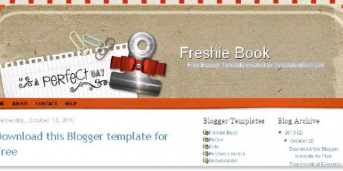 Freshie Book - Scrapbook Blogger Template