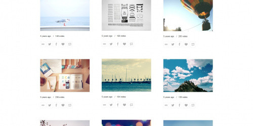 Wallstocker - Free Simple & Clean Tumblr Portfolio Theme
