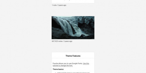 Foudre - Free Simple Tumblr Blog theme