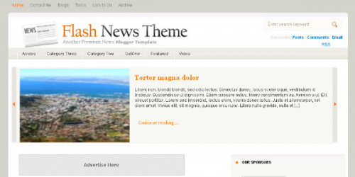 Flash News - Plain Magazine Blogger Template