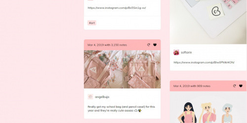 Mignon - Free Clean & Modern Tumblr Blog Theme