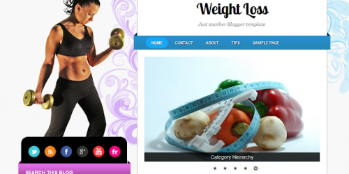 Weight Loss - Health Theme Blogger Template
