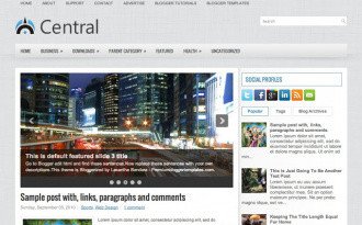 Central Blog - Two Column Blogger Template