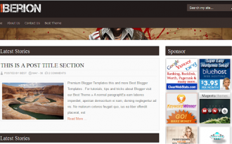 Tiberion - Gaming Review Blogger Template
