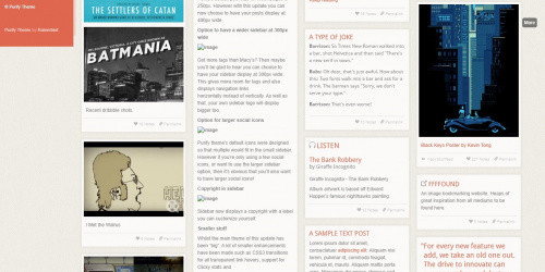 Purify - Free Elegant Tumblr Grid Theme
