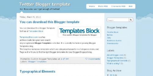 Twitter Design -  Blogger Template