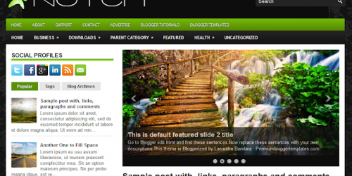 Notch - Fresh Magazine Blogger Template